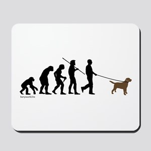 Chocolate Lab Evolution Mousepad