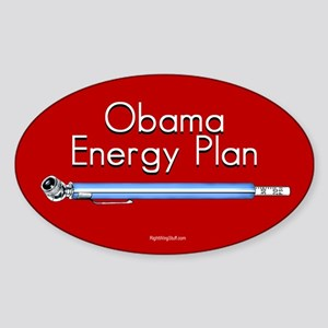 Obama Energy Plan Oval Sticker
