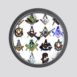 Masonic Square and Compass Wall Clock