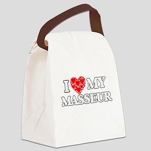 I Love my Masseur Canvas Lunch Bag