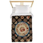 Floral Needlepoint Twin Duvet Cover