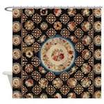 Floral Needlepoint Shower Curtain