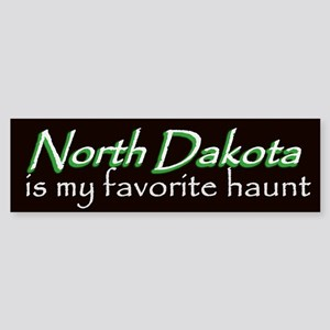 North Dakota Haunt Bumper Sticker - Green