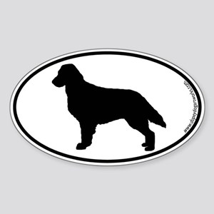 Flatcoat SILHOUETTE Oval Sticker