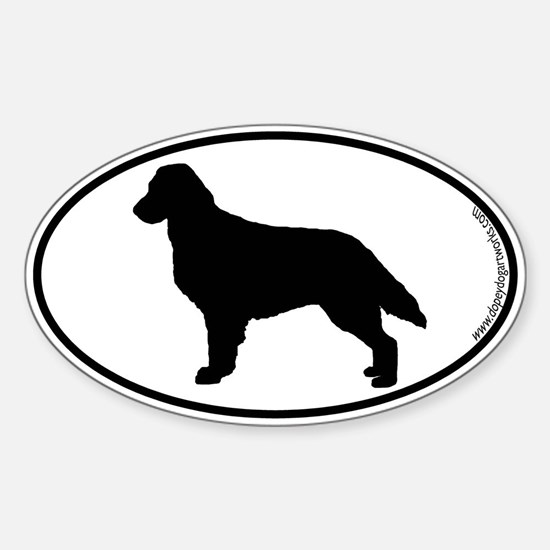Flatcoat SILHOUETTE Oval Decal