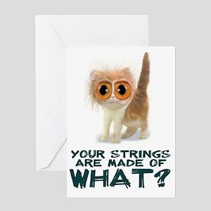Catgut Strings Shocker Greeting Card