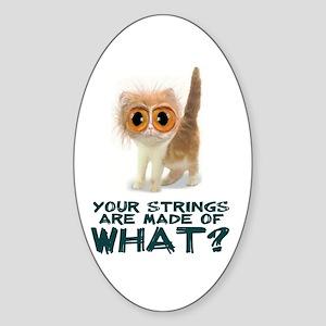 Catgut Strings Shocker Oval Sticker