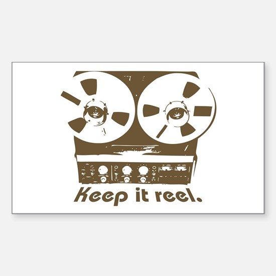 Keep It Reel Rectangle Decal