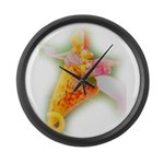 Spotted Jewelweed Large Wall Clock