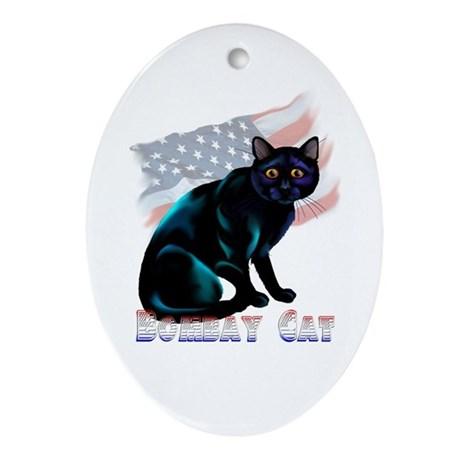 The Bombay Cat Oval Ornament