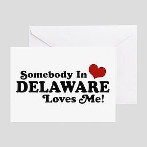 Somebody in Delaware Loves me Greeting Cards (Pk o
