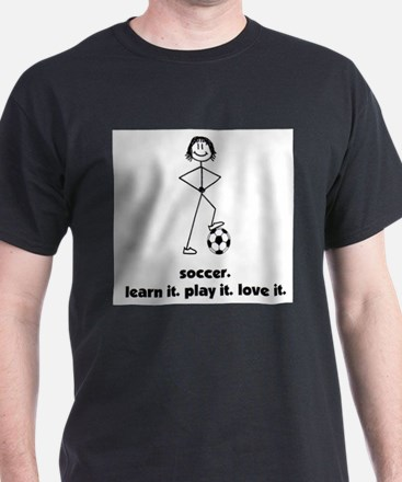 Stick Girl Soccer T-Shirt