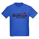 Someone michigan loves me Kids T-shirts (Dark)