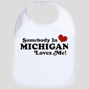 Somebody in Michigan Loves me Bib