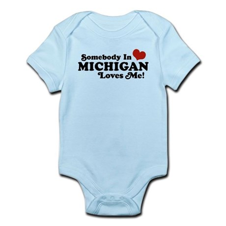 Somebody in Michigan Loves me Infant Bodysuit