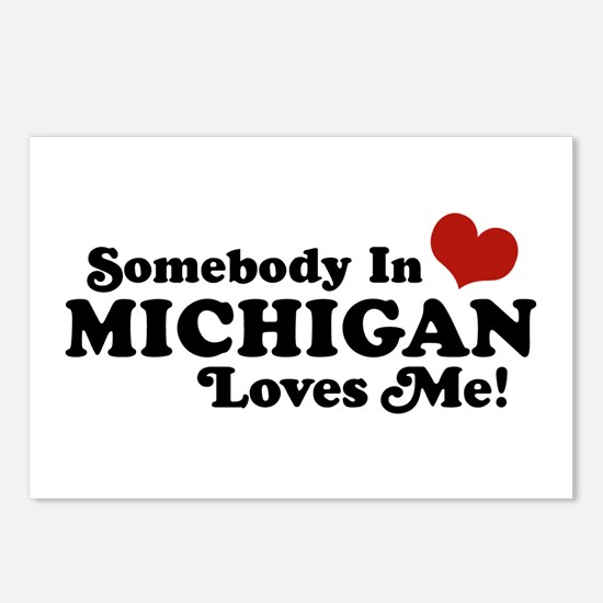 Somebody in Michigan Loves me Postcards (Package o
