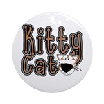Kitty Cat Ornament (Round)