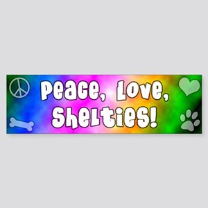 Hippie Sheltie Bumper Sticker