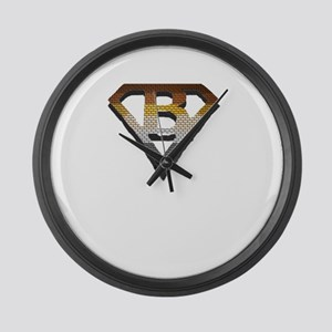 BEAR PRIDE/SUPERBEAR EMBLEM Large Wall Clock