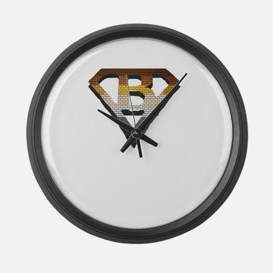 BEAR PRIDE/SUPERBEAR EMBLEM Large Wall Clock