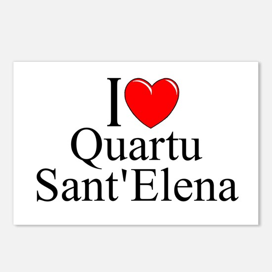 """I Love (Heart) Quartu Sant'Elena"" Postcards (Pack"