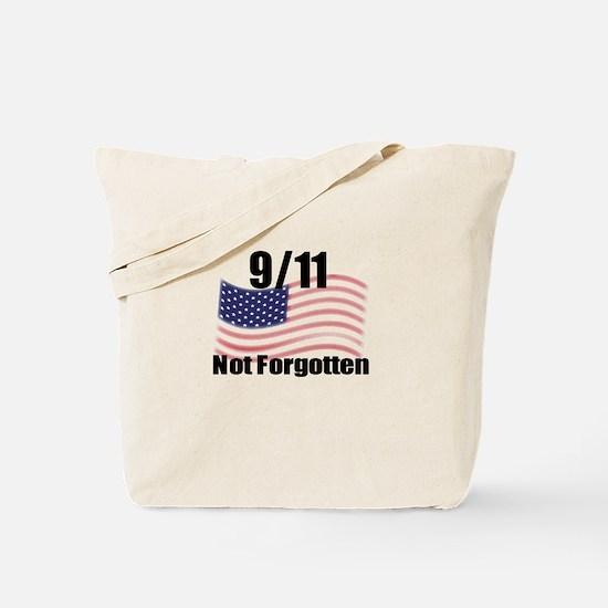 9/11 Not Forgotten Tote Bag