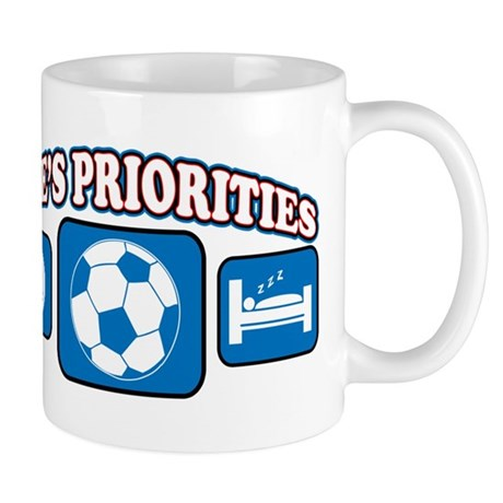 Life's Priorities Soccer Mug