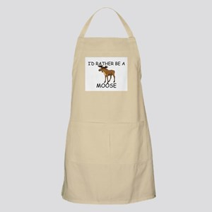 I'd Rather Be A Moose BBQ Apron