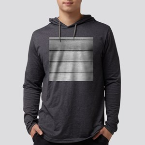 White faded horizontal panels Mens Hooded Shirt