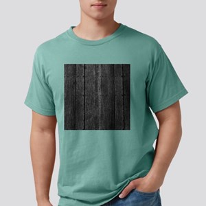 Gray nailed wood fence texture Mens Comfort Colors