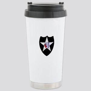 2nd INFANTRY DIVISION Stainless Steel Travel Mug