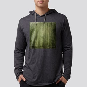 Yellow wood panel texture Mens Hooded Shirt