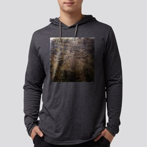 Rusted fabric texture Mens Hooded Shirt