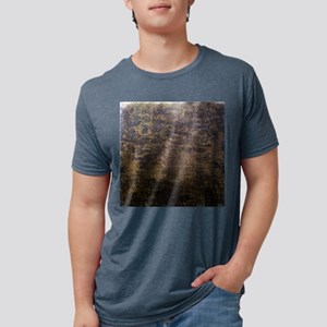 Rusted fabric texture Mens Tri-blend T-Shirt