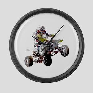 ATV Racing (color) Large Wall Clock