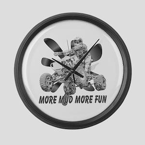 More Mud More Fun on an ATV ( Large Wall Clock