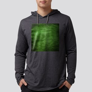 Green wrinkle paper texture Mens Hooded Shirt