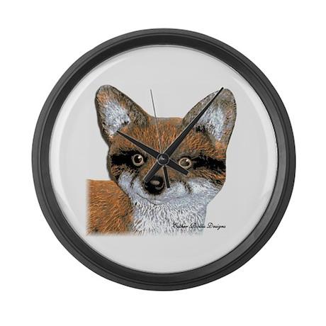 Fox Portrait Design Large Wall Clock