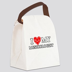 I Love my Musicologist Canvas Lunch Bag