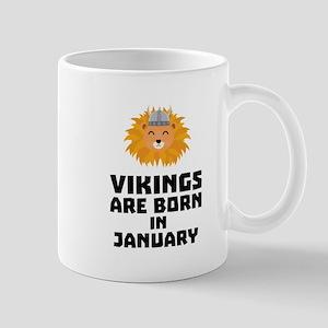 Vikings are born in January Cva42 Mugs