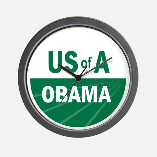 USofA Organic Obama Wall Clock