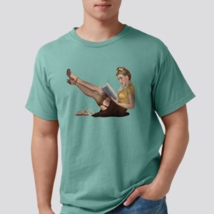 Librarian Student Pin Up Girl Mens Comfort Colors®