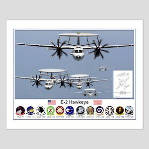 E-2 Hawkeye Small Poster