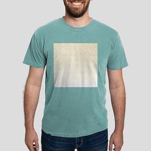Gold Sparkle Ombre Chevron Stripes Mens Comfort Co