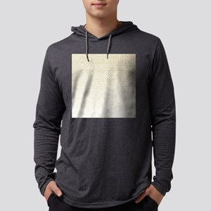 Gold Sparkle Ombre Chevron Stripes Mens Hooded Shi