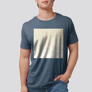 Gold Sparkle Ombre Chevron Stripes Mens Tri-blend