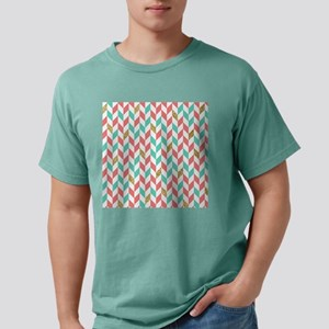Mint Coral Gold Chevron Zig Zag Scatter Mens Comfo