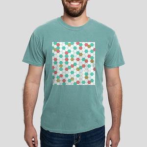 Mint Coral Gold Hexagon Honeycomb Scatter Mens Com