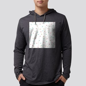 Mint Coral Gold Triangle Scatter Mens Hooded Shirt