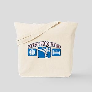 Life's Priorities Karate Tote Bag
